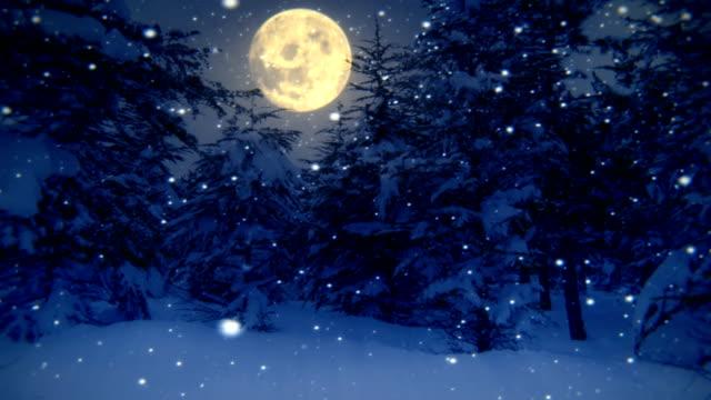 Traumhafte winter Nacht (Endlos wiederholbar)