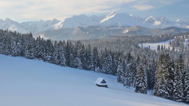 Winter morning view of the Tatra Mountains, Poland