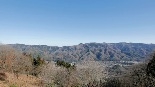 Winter mountain scene of Hodosan, Chichibu, Japan