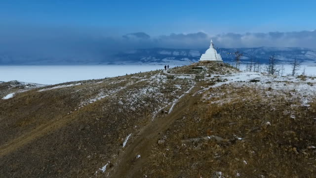 Winter on Lake Baikal. View from the drone