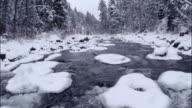 Winter River Rapids