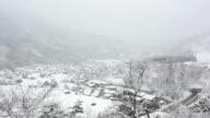 Shirakawago inverno con nevicate Gifu Chubu Giappone