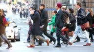 Winter Shopping and Commuter Crowds in Sydney