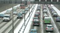 Winter Traffic on Autobahn + Audio