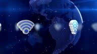 Drahtlose Netzwerk-Welt-Loop