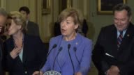Wisconsin Senator Tammy Baldwin says at a regular weekly press briefing that the Senate will vote on her Buy America amendment to the defense...