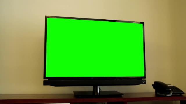 TV with a green screen