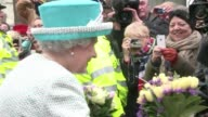 With a wave a smile and a few softlyspoken words Queen Elizabeth II charms wellwishers who braved the snow to congratulate her as she marks 60 years...