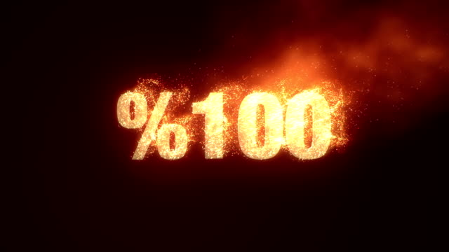 %100 OFF With Fire - Alpha Channel