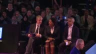With Londons mayoral election coming up next week the two main candidates Labours Sadiq Khan and Zac Goldsmith of the Conservative party attend a...