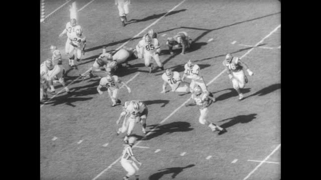 With players from both east and west football teams the All Stars Pro Bowl gets underway in Los Angeles / players mentioned are Frank Ryan Sonny...