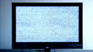 TV with static.