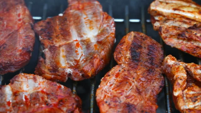BBQ with Steaks and Sausages