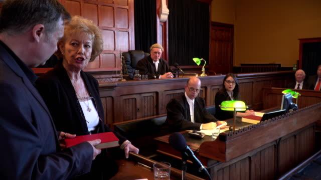 4K: Witness taking Oath in Court of Law