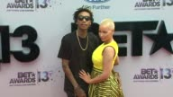Wiz Khalifa Amber Rose at BET 2013 Awards Arrivals on 6/30/13 in Los Angeles CA