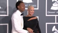 Wiz Khalifa and Amber Rose at The 55th Annual GRAMMY Awards Arrivals in Los Angeles CA on 2/10/13