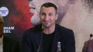 Wladimir KlitschkoTyson Fury press conference Klitschko press conference SOT comments on Tyson Fury not attending press conference / Question and...