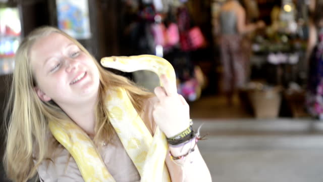 Woman and snake
