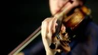 Woman and violin
