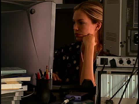 Woman at computer desk