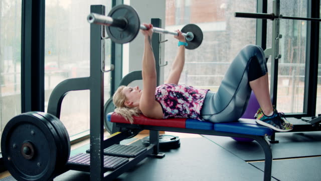 Frau im gym