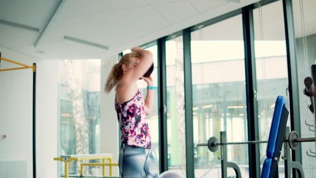 Woman at gym