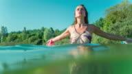 Woman at lake