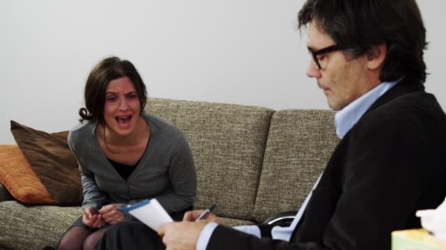 Woman at psychiatrist