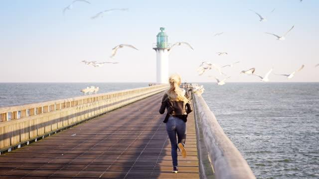 Woman at the ocean