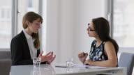 MS A woman attends a job interview