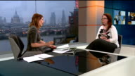 Woman awakes from coma after hearing plans to turn off life support ENGLAND London GIR INT Jenny Bone LIVE STUDIO interview SOT