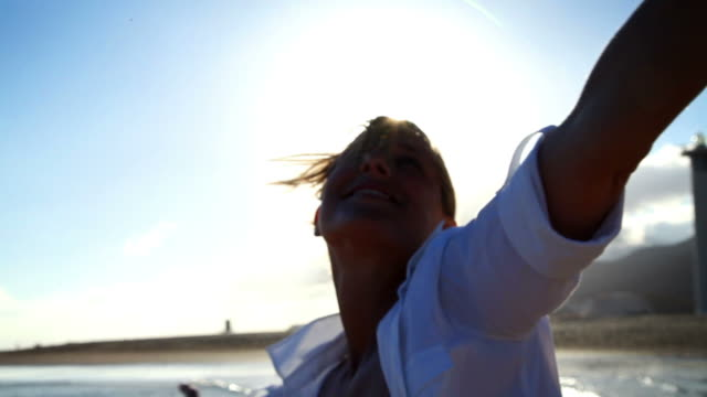 Woman Beach Montage