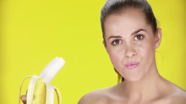 HD: Woman Eating A Banana