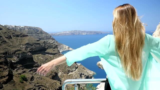 Woman enjoying the seascape