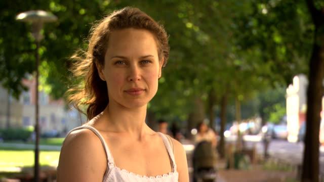Woman face outdoor.