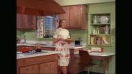 MS ZO PAN Woman garnishing food in kitchen / United States