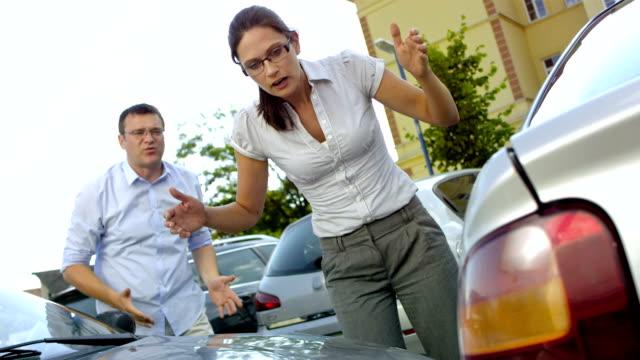 MS TU Woman Having A Car Accident