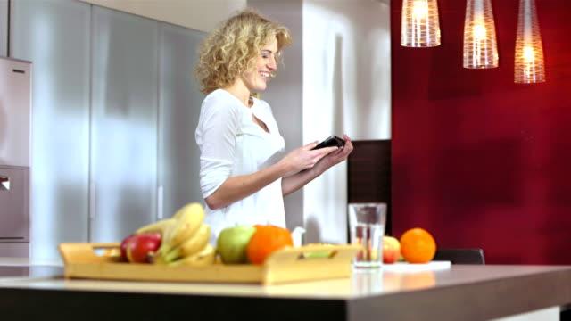 Woman Having Fun Using A Digital Tablet