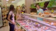 MS, ZI, Woman in delicatessen, Berlin, Germany