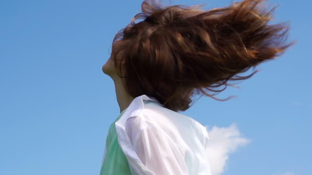 Woman in the summer sun