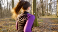 Woman jogging in the nature.