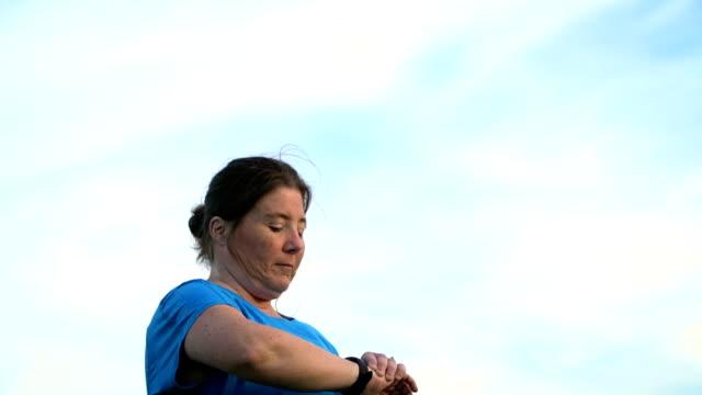 Vrouw joggen