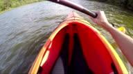 Woman Kayaking Personal Perspective