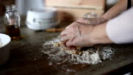 Woman kneading