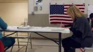 A woman logs in at polling place before they mark jer ballots in the 2016 presidential election Michigan voters gave Donald Trump a narrow unexpected...