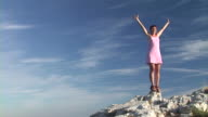 HD: Woman On Top Of The World