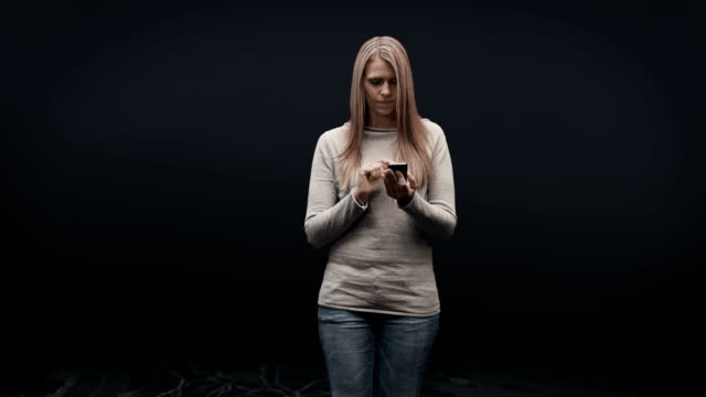 Woman  on virtual map