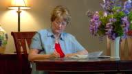 Woman Paying Bills 5