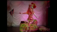 1976 - Woman performs on stage in striptease