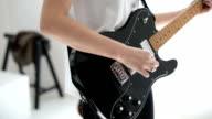 Woman play guitar